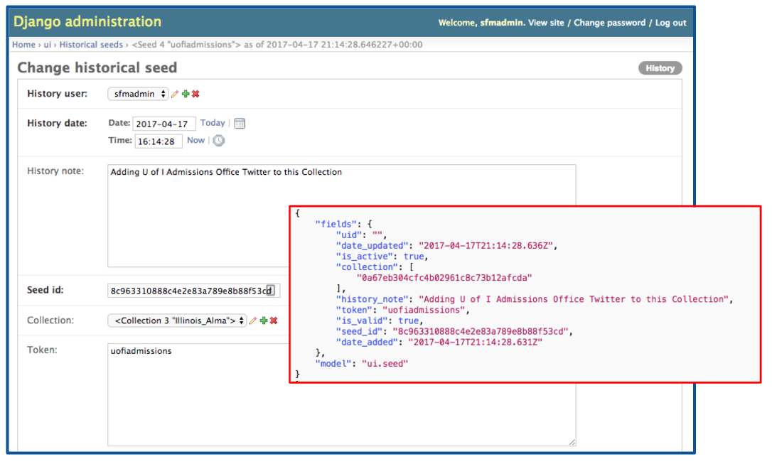 Configuration Setting in Change Log and in seeds.json File