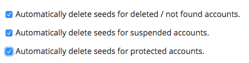 Seed configuration