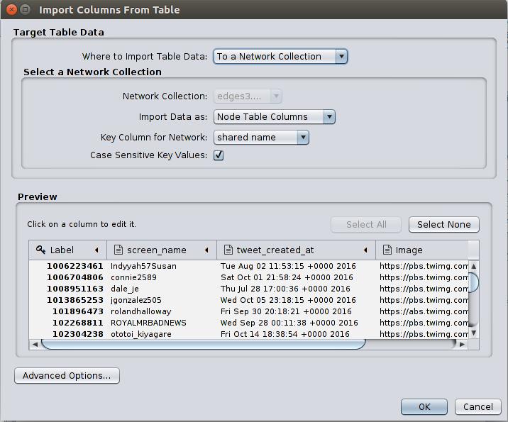 Cytoscape import node attributes