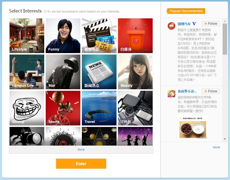 weibo interests